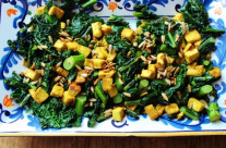 Curried Tofu and Dinosaur Kale