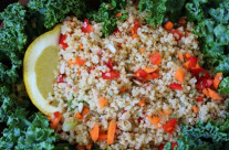 Sprouted Quinoa Raw Salad