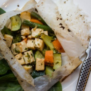 Ginger Tofu and Veggies En Pappilote