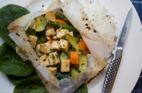 Ginger Tofu and Veggies En Pappilote